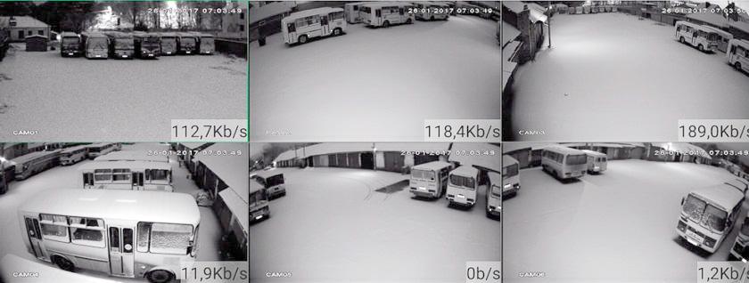 Видеонаблюдение автобаза